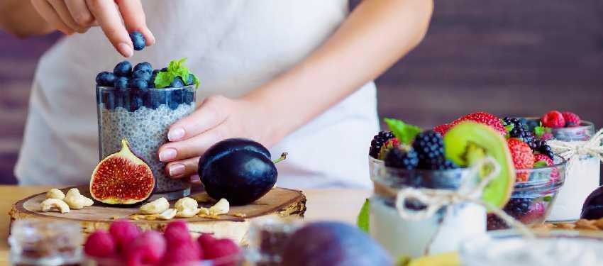Woman Preparing Nutritious Food